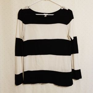 J. Crew | Striped Linen Top